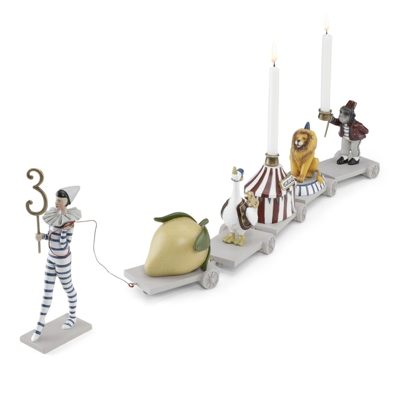 Geburtstagszug aus Stein 'Zirkus' ca. 69cm