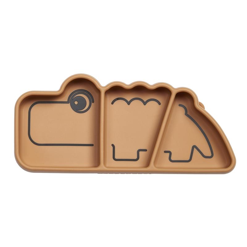 Snack-Teller 'Stick & Stay' Krokodil camel