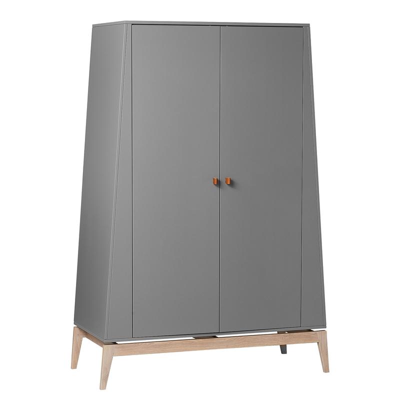 Kleiderschrank 'Luna' Eiche grau H 190cm
