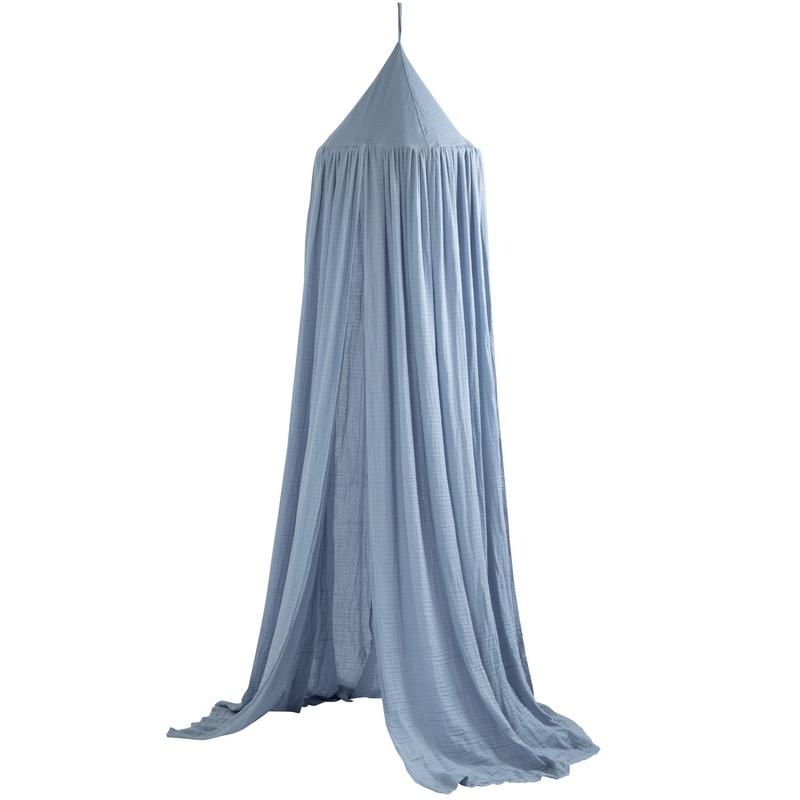 Baldachin Musselin powder blue 240cm