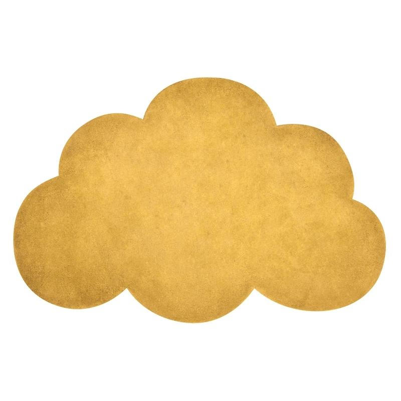 Kinderteppich 'Wolke' senfgelb ca. 64x100cm