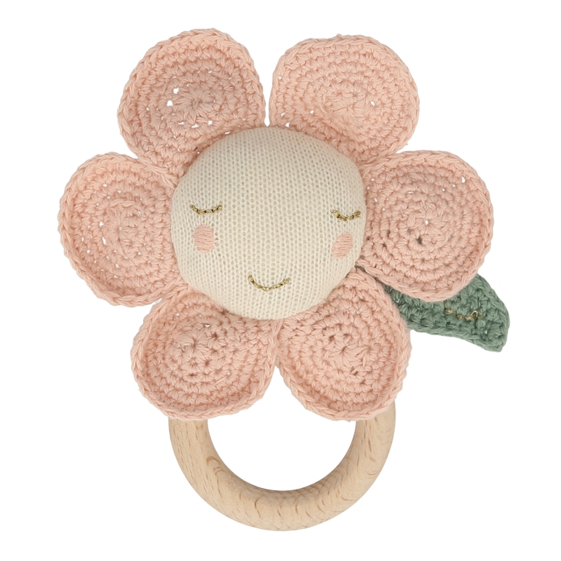 Greifling 'Blume' natur/rosa