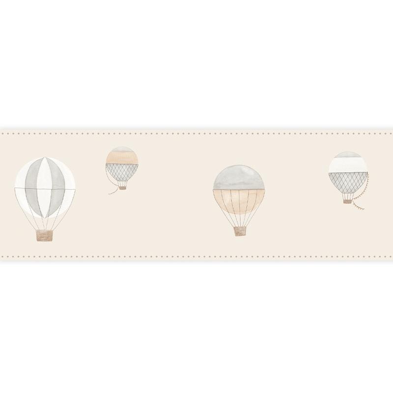 Bordüre 'My Little World' Heißluftballons beige