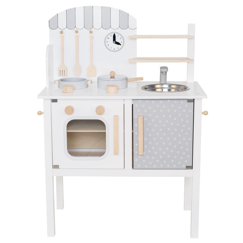 Kinderküche aus Holz weiß/grau ab 3 Jahren
