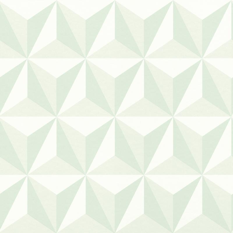 Vliestapete 'Dreiecke 3D Optik' softmint