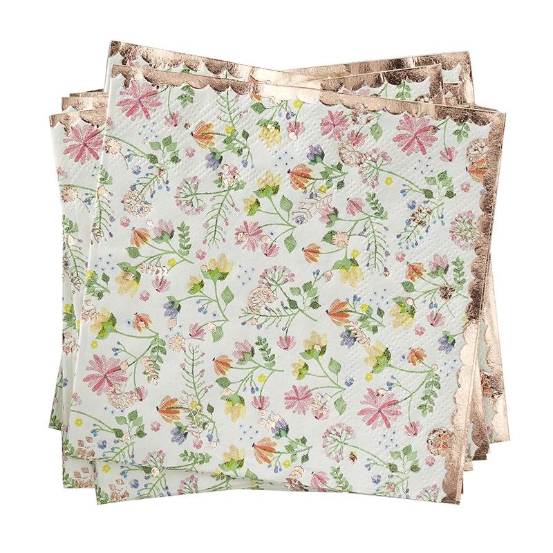 Servietten 'Ditsy Floral' roségold 16 St.