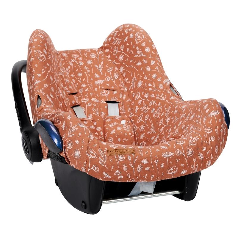 Sitzbezug 'Wild Flowers' rost für Babyschale