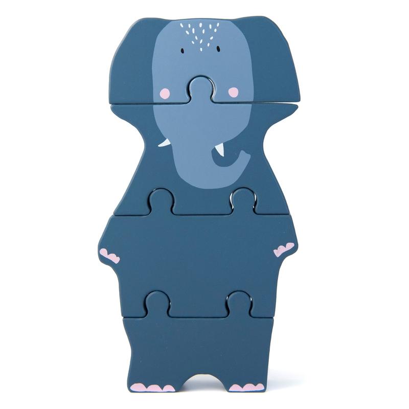 Holzpuzzle 'Elefant' blau ab 1 Jahr