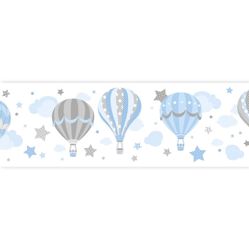 Bordüre Heißluftballons blau selbstklebend