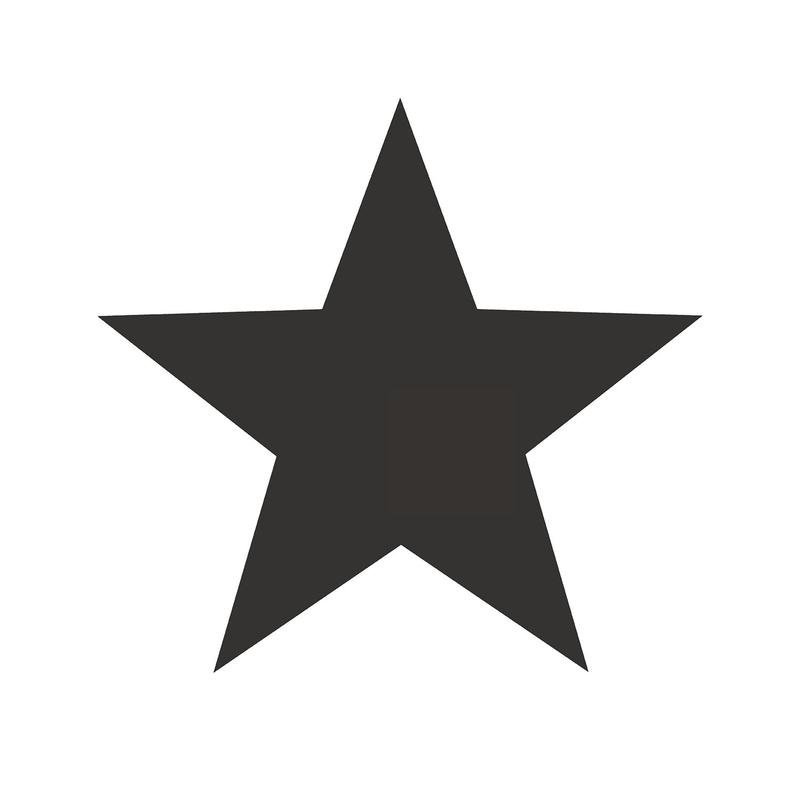 Vliestapete 'Maxi Sterne' weiß/schwarz