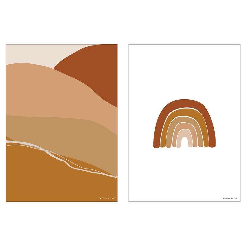 Wendeposter 'Regenbogen' rost 30x40cm