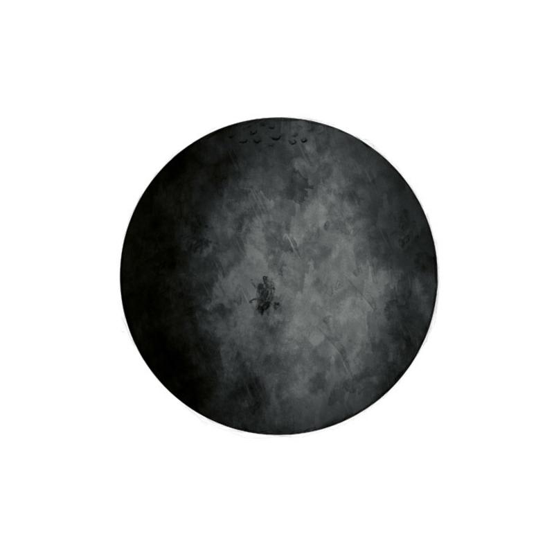 Wandsticker 'Mond' schwarz handgezeichnet