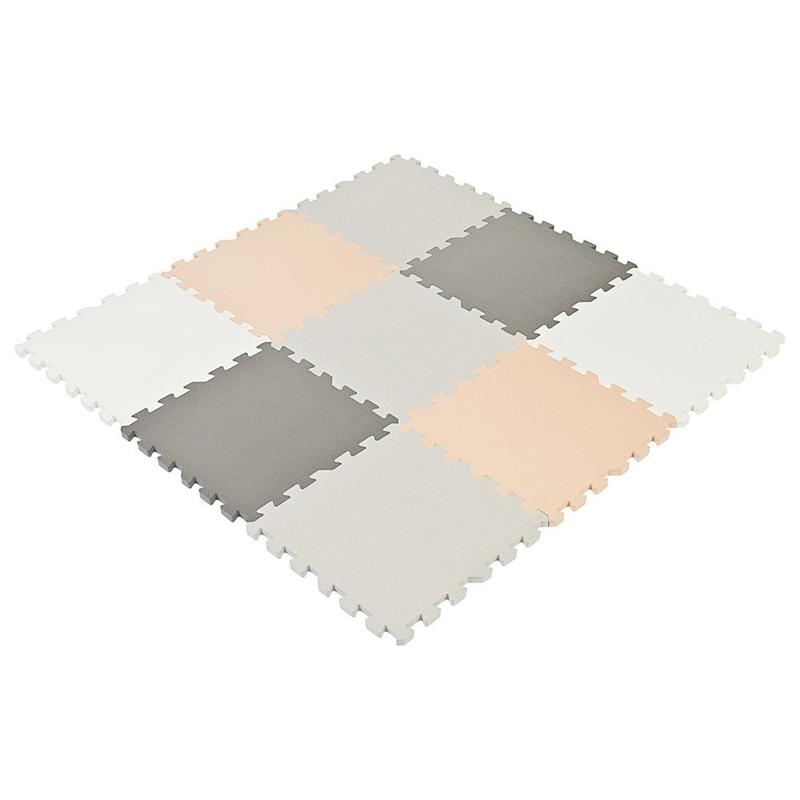Puzzlematte Schaumstoff grau/beige 90x90cm