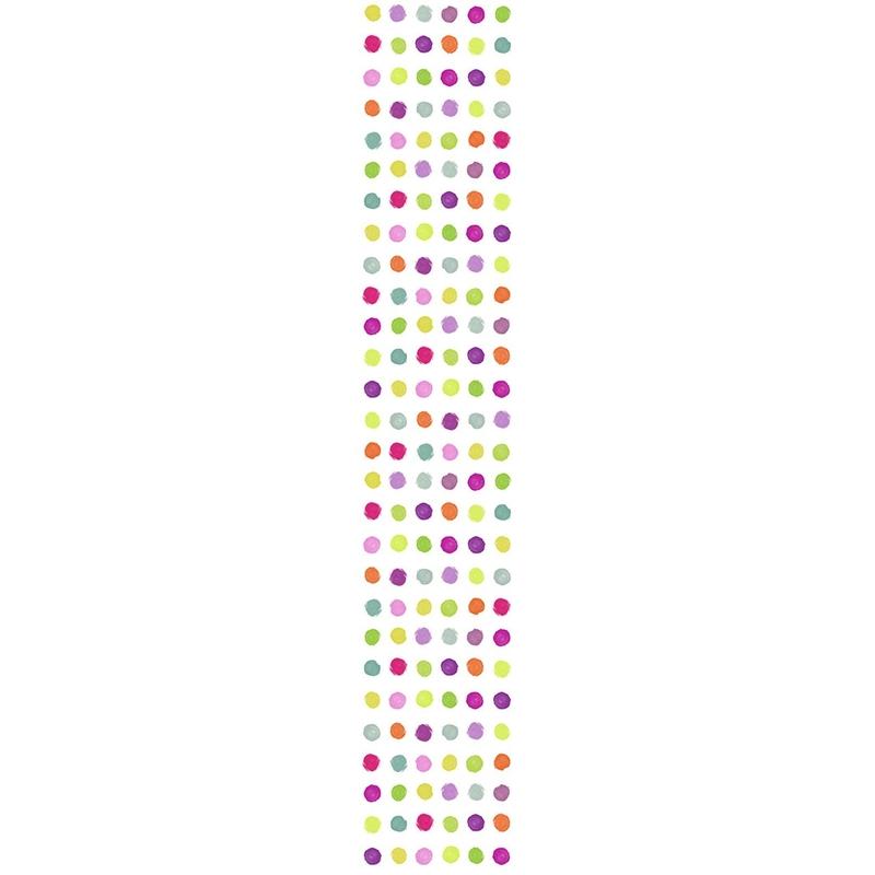 Tapetenpaneel 'Farbkleckse' bunt H 280cm