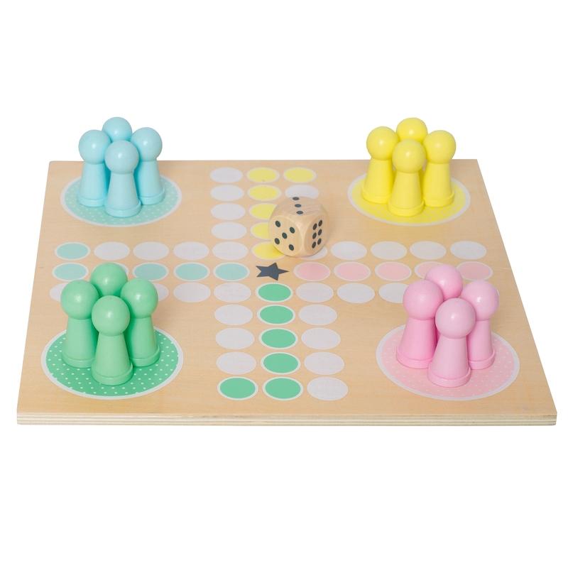 Brettspiel aus Holz pastell ab 3 Jahren