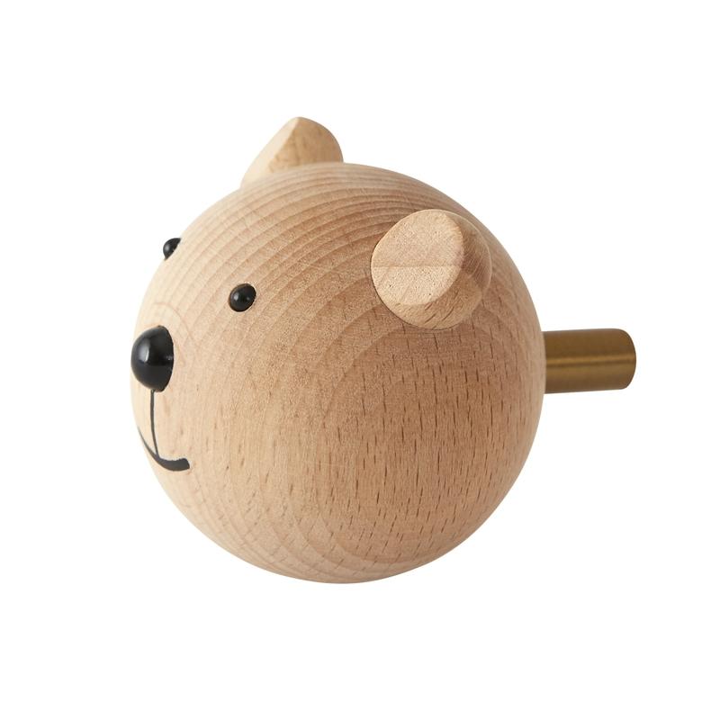 Kleiderhaken 'Bär' aus Buchenholz