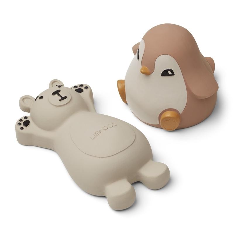 Badespielzeug 'Eisbär & Pinguin' rosa/creme