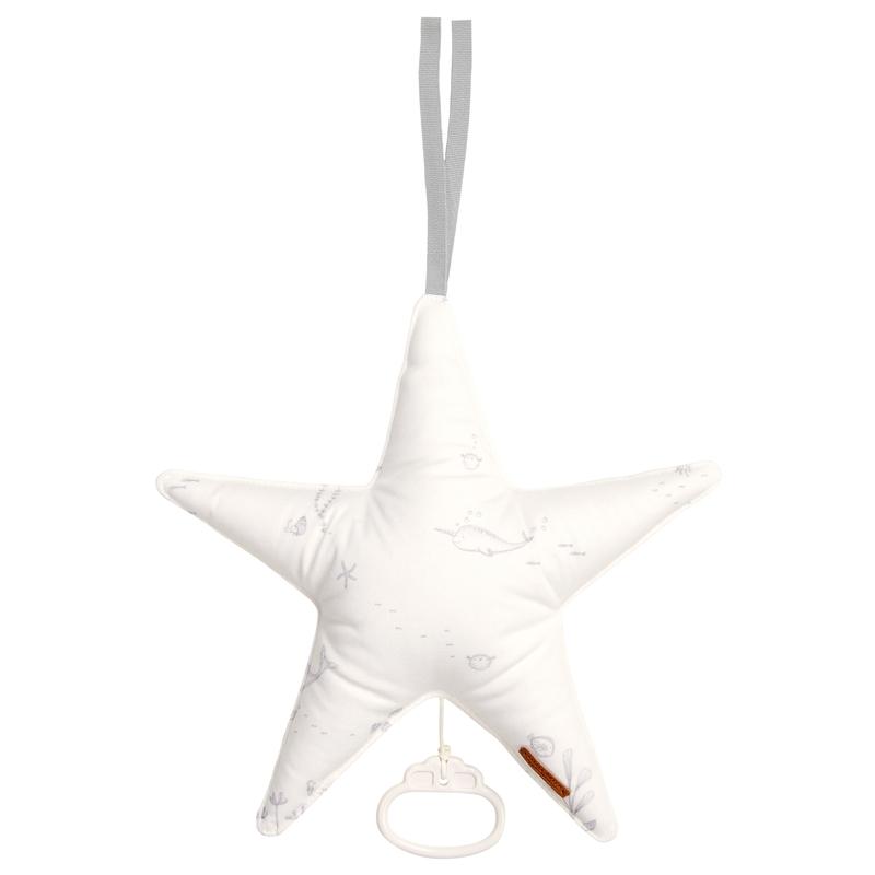 Baby Stern-Spieluhr 'Ocean' cremeweiß ca. 27cm
