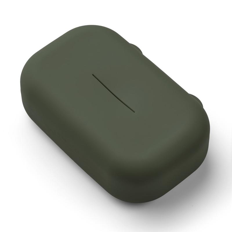 Feuchttücher-Box Silikon khaki 12x19cm