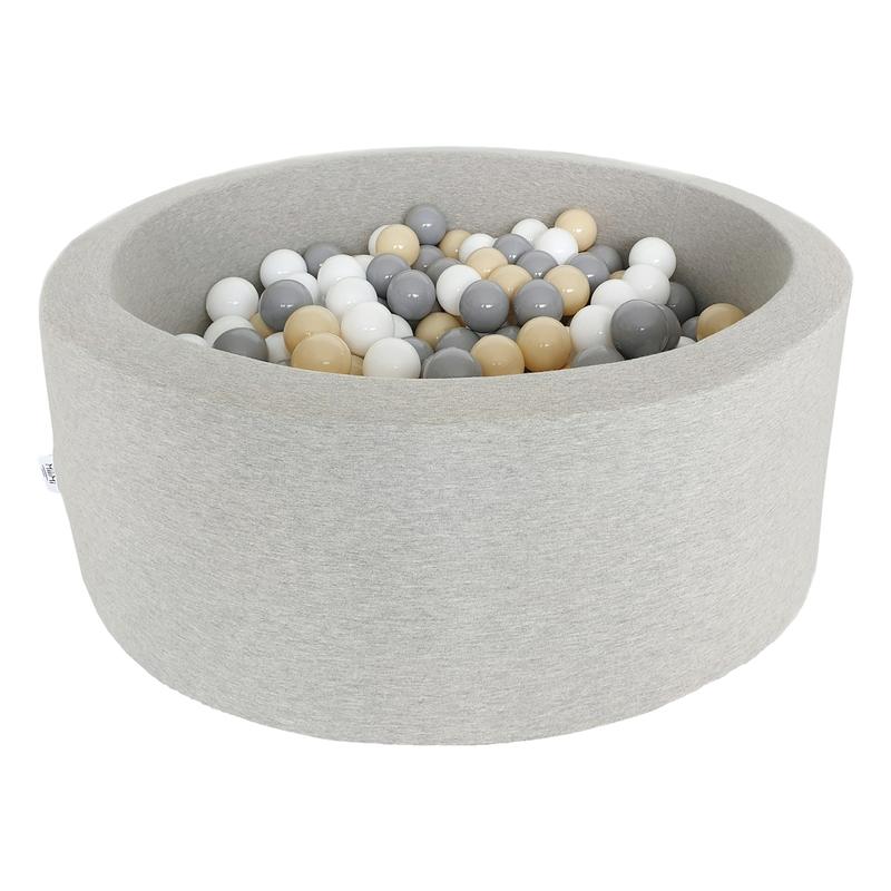 Bällebad grau 200 Bälle grau/beige/weiß