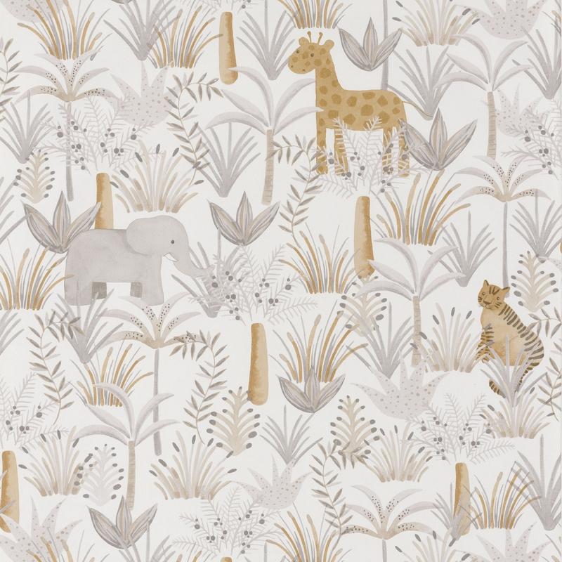 Tapete 'Rose & Nino' Dschungel' beige/ocker