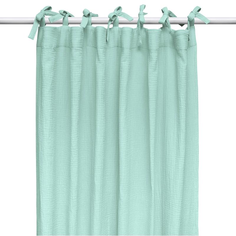 Vorhang Musselin mint H 240cm handmade