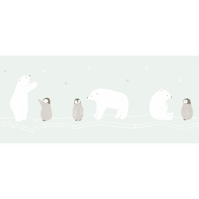 Bordüre 'Happy Dreams' Eisbär mint