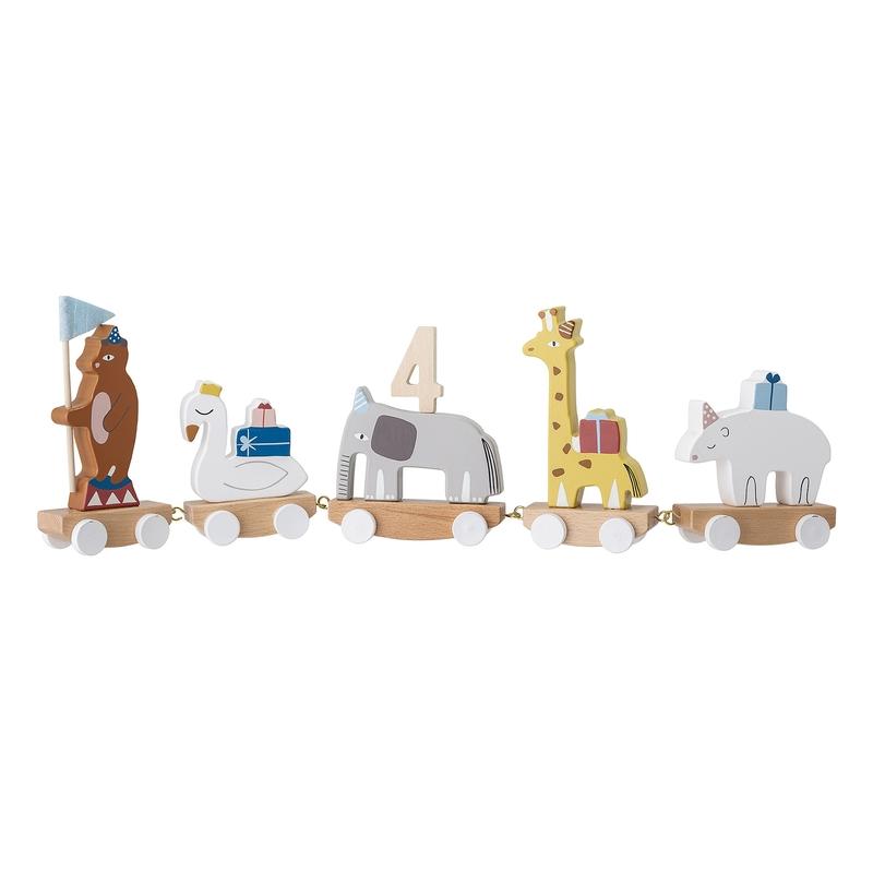 Geburtstagszug Holz 'Tierparade' L 50cm