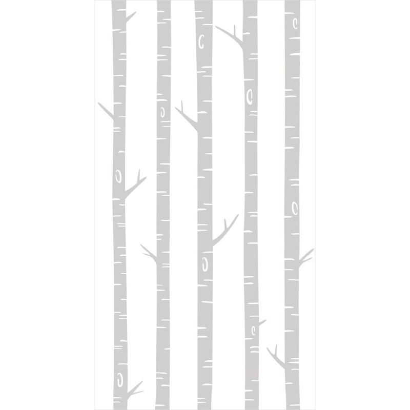 Fototapete 'Bäume' weiß/grau 150x279cm
