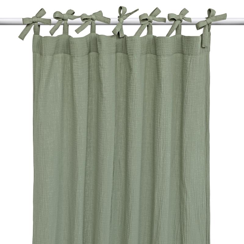 Vorhang Musselin khaki H 240cm handmade