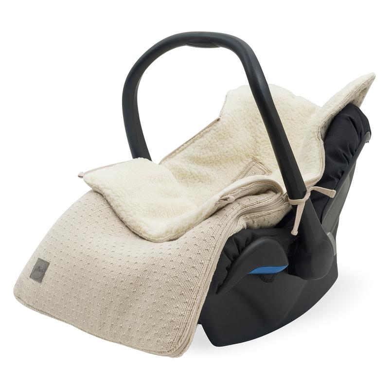 Fußsack 'Bliss Knit' Strick/Plüsch beige