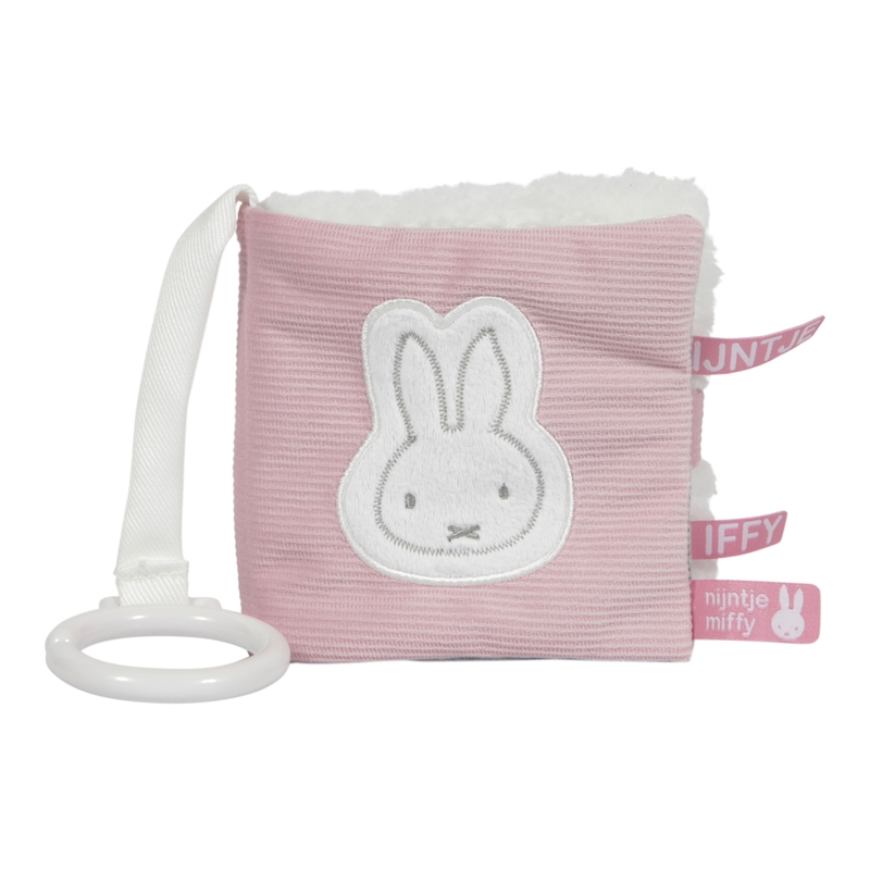 Babybuch Miffy Hase 'Cord' altrosa/weiß