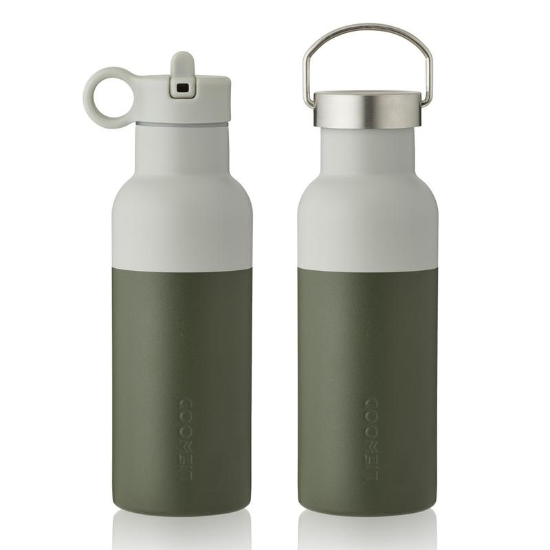 Trinkflasche Edelstahl khaki/creme 500ml