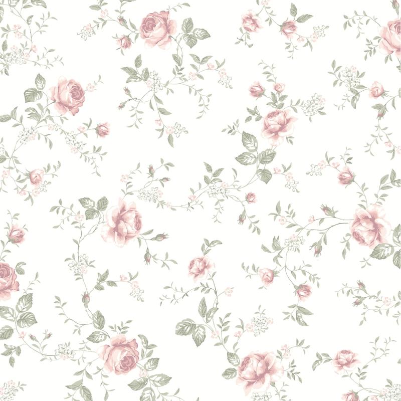 Tapete 'Newbie' Rosen rosa/grau