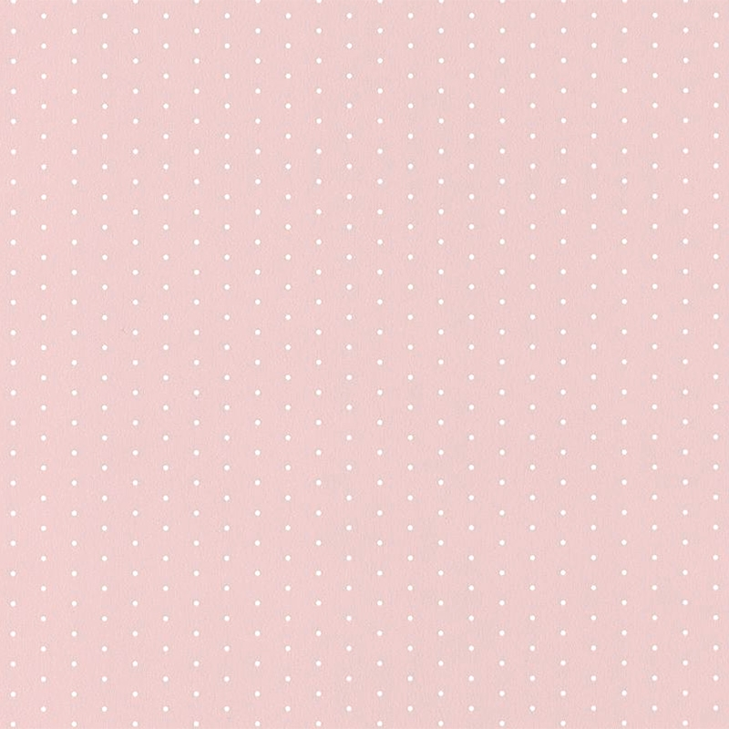 Tapete 'My Little World' Punkte rosa