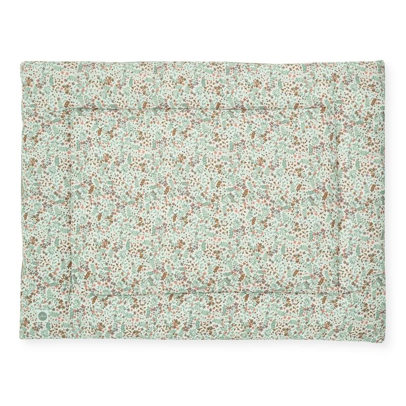 Krabbeldecke 'Bloom' grün/rost 80x100cm