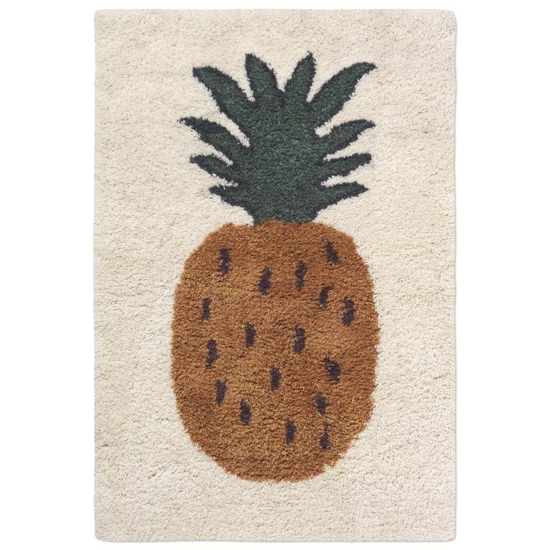 Wollteppich 'Ananas' creme/ocker 120x180cm