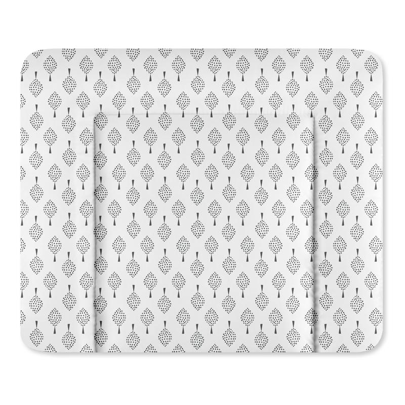 Wickelauflage 'Bonsai' Folie weiß/grau
