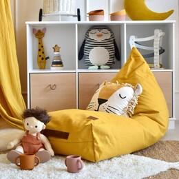 Kinderzimmer gelb, cognac