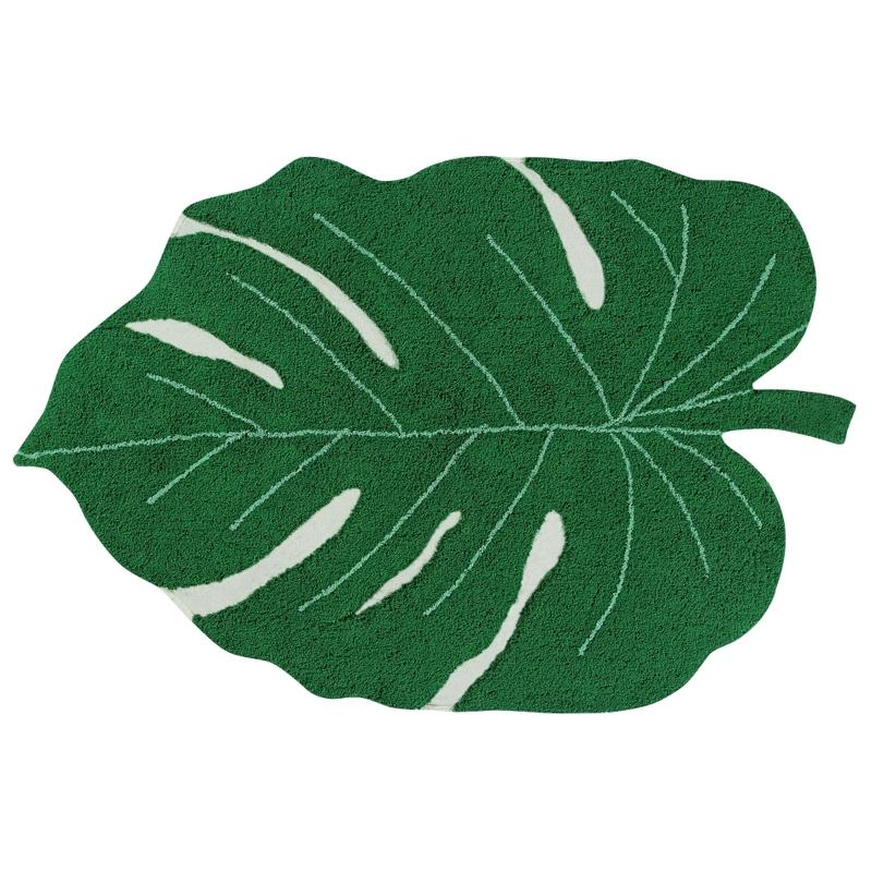 Teppich 'Monstera' grün 120x180cm waschbar