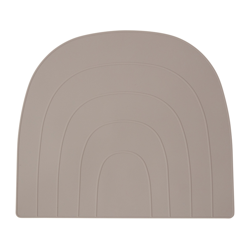Tischset 'Regenbogen' Silikon grau 34x41cm