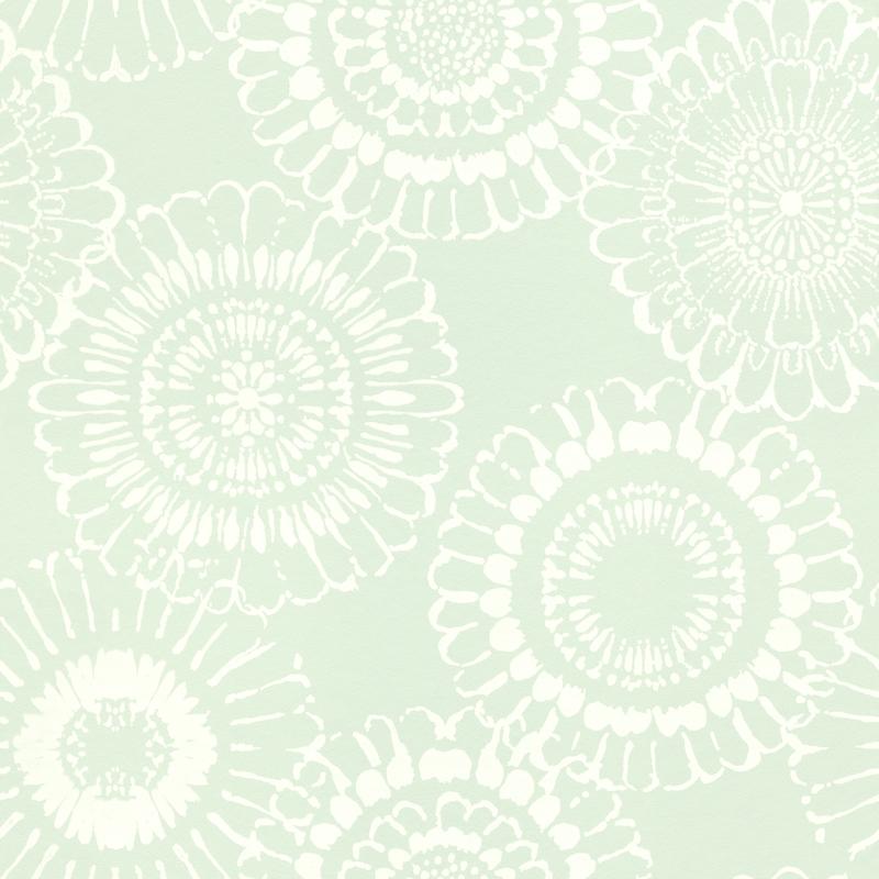 Vliestapete 'Mandala Blüte' mint