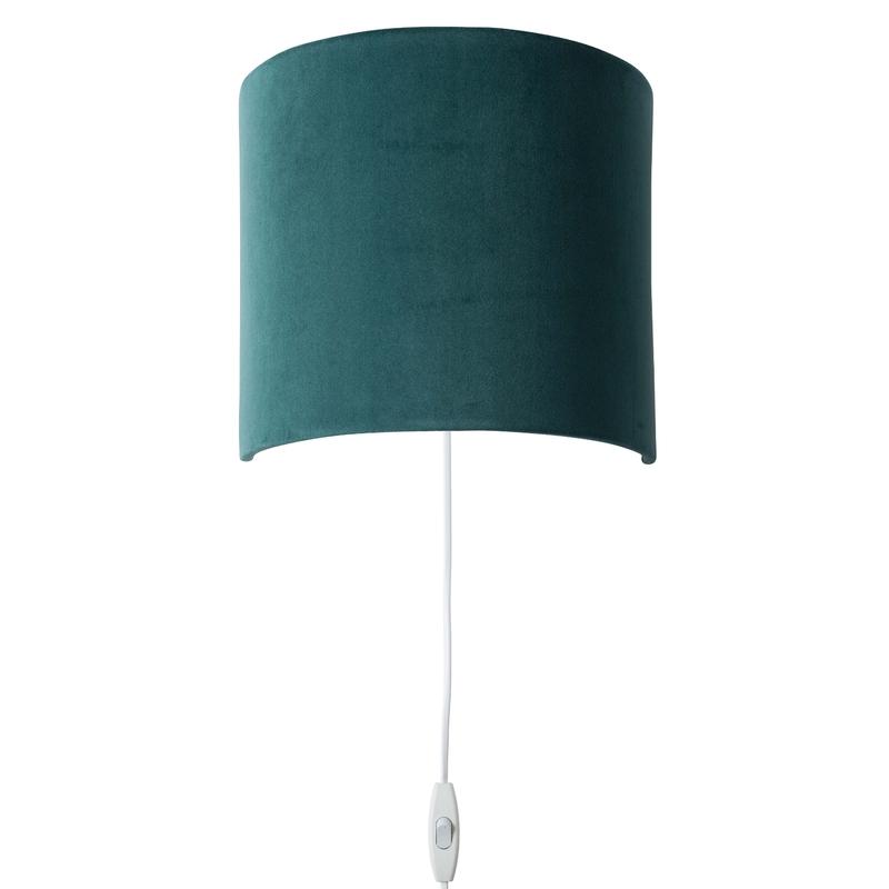 Wandlampe 'Sweet' Samt dunkelgrün 23cm