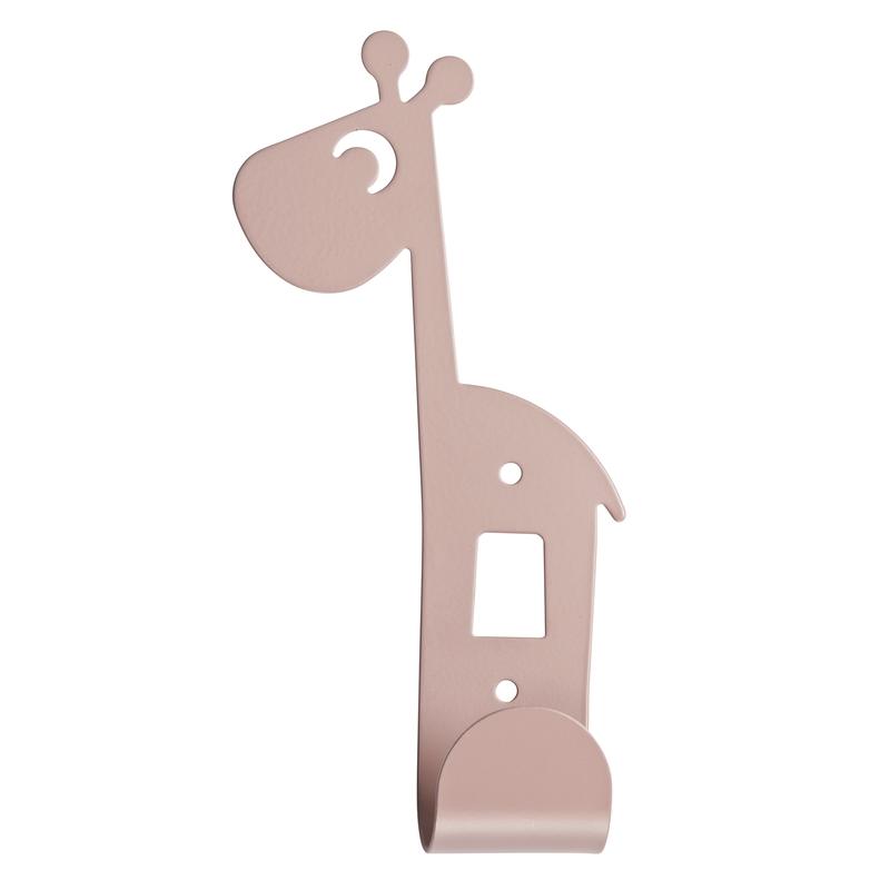 Kleiderhaken 'Raffi Giraffe' Metall altrosa