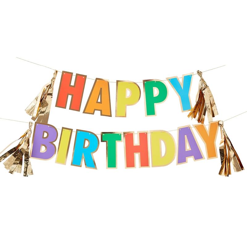 Girlande 'Rainbow' Happy Birthday 300cm