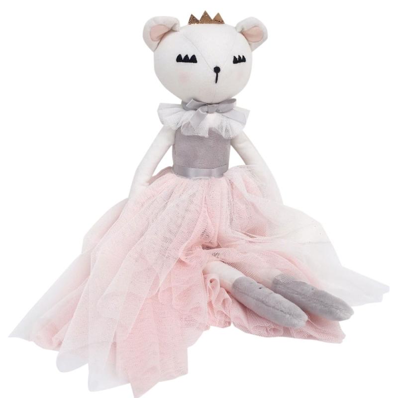 Spielpuppe 'Lady Bär' mit Tüllkleid rosa 40cm