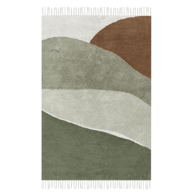 Teppich 'Horizon' oliv 90x130cm waschbar