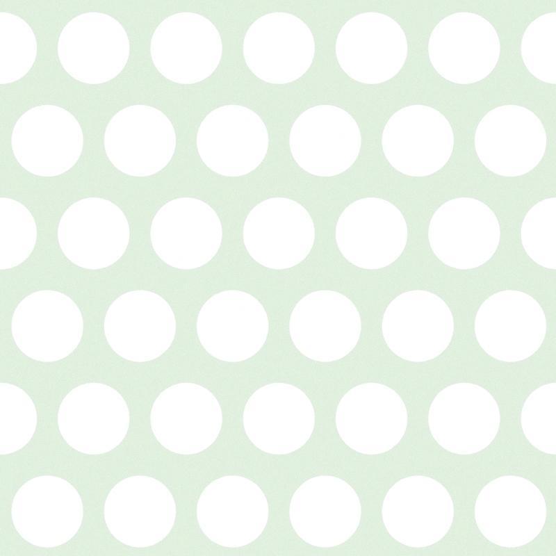 Vliestapete 'XL Punkte' mint/weiß