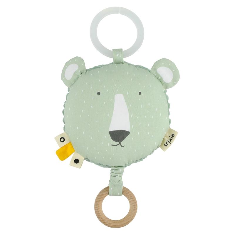 Spieluhr mit Spiegel 'Eisbär' mint ca. 14cm