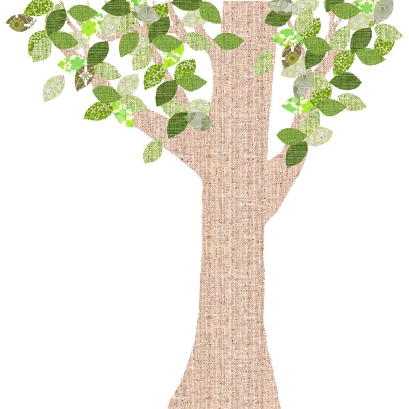 Tapetenbaum groß natur/grün